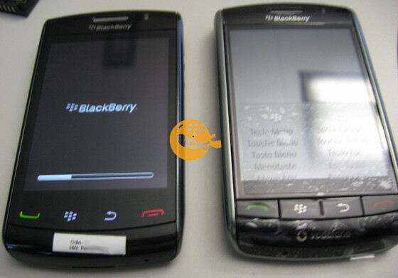 BlackBerry Storm 2 9520 poses for pretty pictures