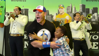 "Watch Cricket Wireless customers lose it when ""unexpected"" John Cena busts through the wall"