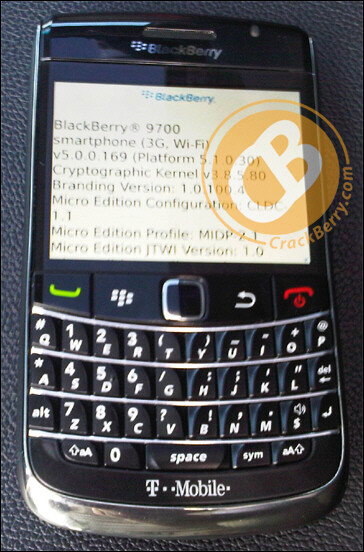 BlackBerry 9700 pictured with T-Mobile branding