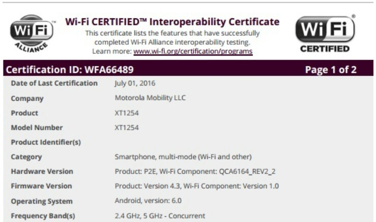 Wi-Fi Certification for the Motorola DROID Turbo shows that the Android 6.0 update for the phone is on the way - Motorola DROID Turbo about to receive Android 6.0?