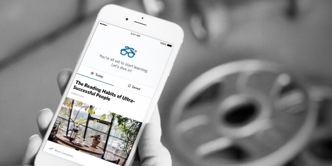 Degreed is a free online education app that delivers the learning content you're interested in