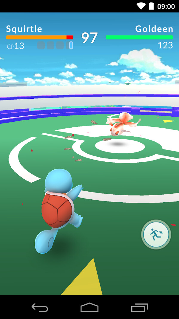 Typical 1 on 1 gym battle - What is Pokemon Go? A quick newbie guide for those out of the loop
