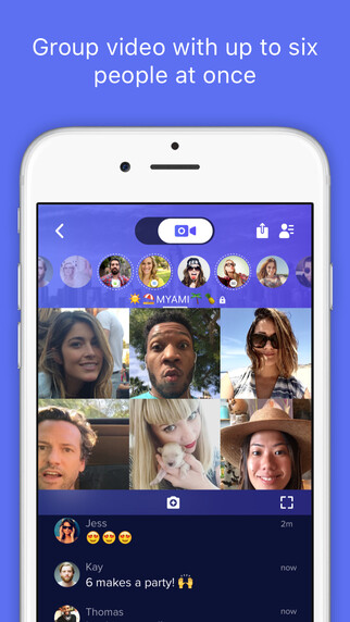 Airtime lets you chat with up to six people at once. - Airtime is a video chat app that lets you hang out with friends from anywhere around the world