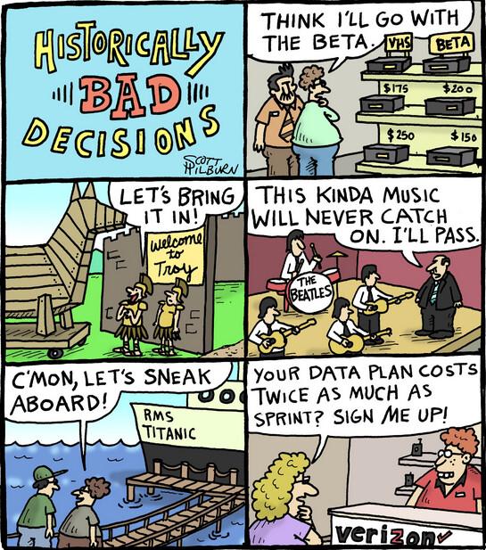 Comic makes fun of Verizon's higher rates - Sprint responds to Verizon's price hike by tweeting a funny comic strip