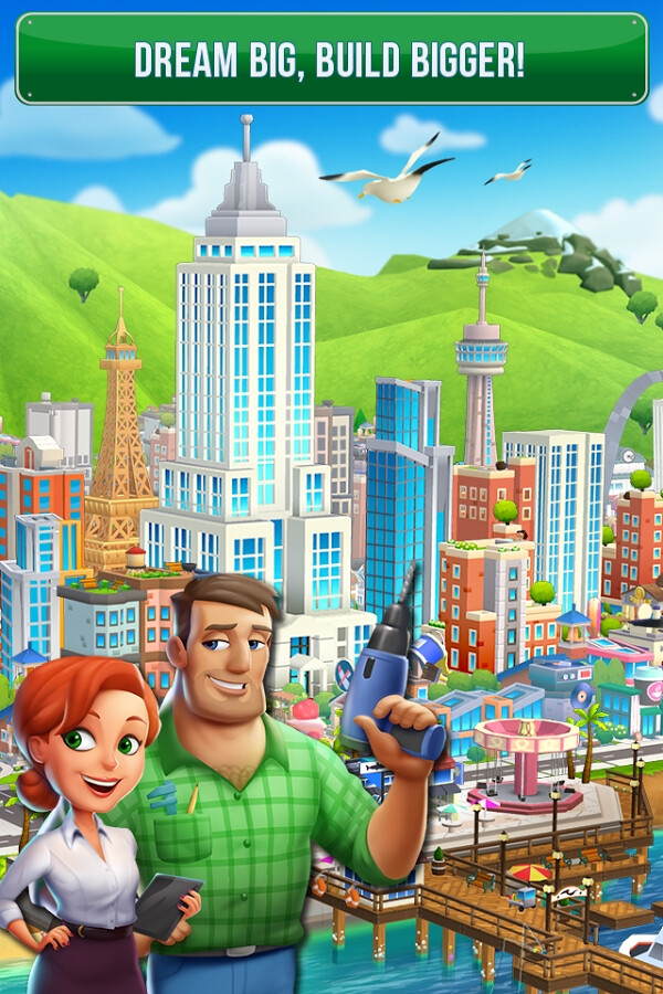 Make your dream city a reality - Build your Dream City and solve a strange mystery in the latest town building game to hit Android and iOS