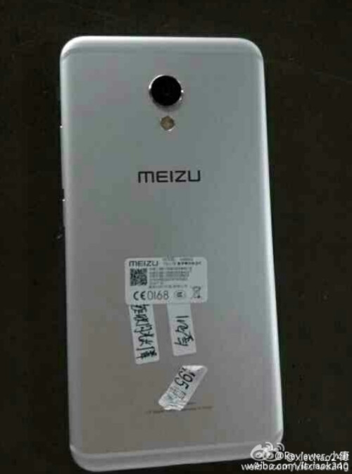 Front and back of the Meizu MX6 leaks