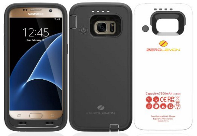The ZeroLemon ZeroShock 7500mAh Rugged Extended Battery Case adds battery life to your Samsung Galaxy S7, while protecting it from drops and falls - Save 40% on the ZeroLemon ZeroShock 7500mAh Extended Battery Case for the Samsung Galaxy S7