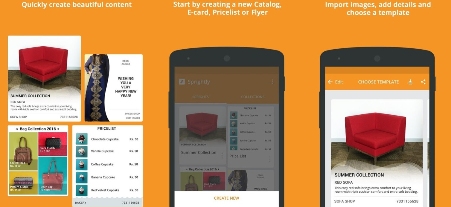 microsoft sprightly lets you design impressive flyers and brochures