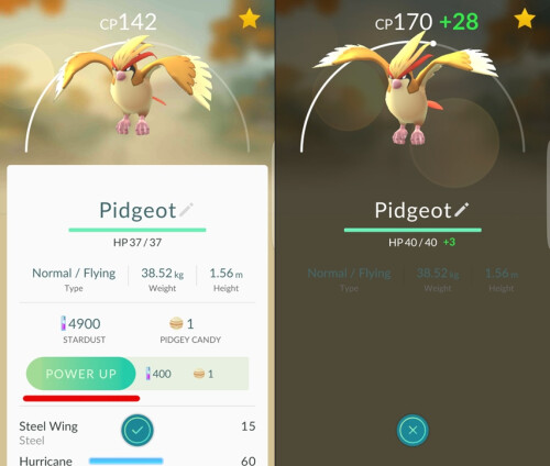 Use Stardust and Candy to power up your Pokemon