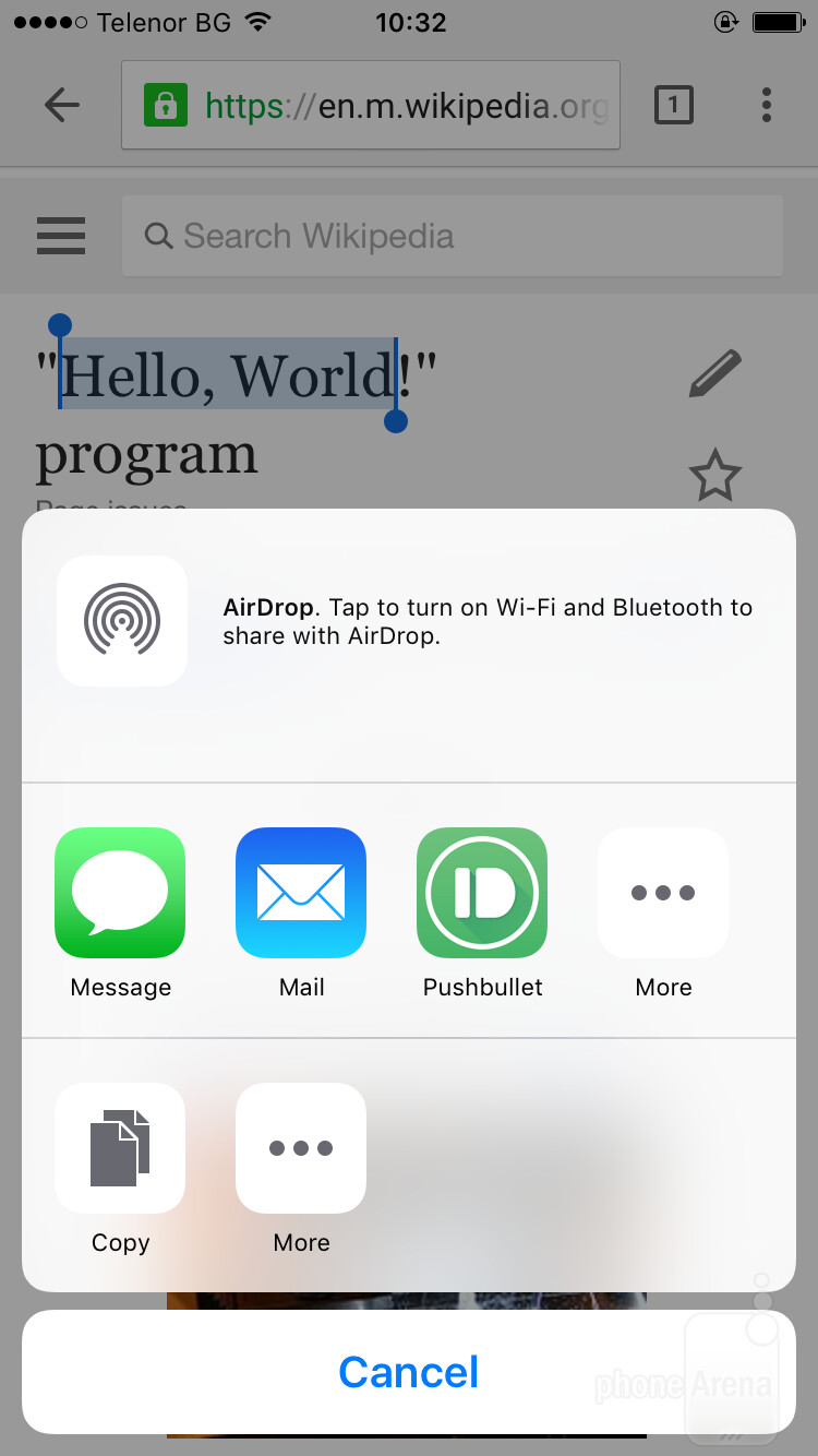 Choose a sharing method - How to get a universal clipboard across all your devices (iOS, Android, Windows PC)