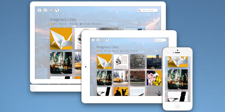 The app is available on all your desktop, Android and iOS devices - Pearltrees organizes all your smartphone's content in beautiful and orderly collections
