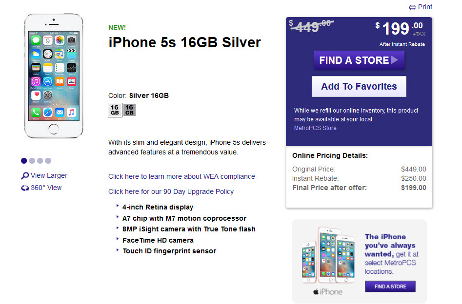 Metropcs Is Now Selling The Apple Iphone At More Than 5 000 Locations Phonearena