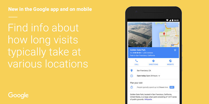 Google Search will soon tell you how long it takes to visit a certain place