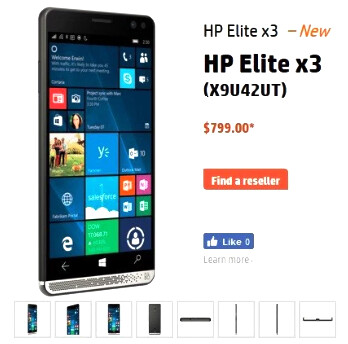 HP Elite x3 price set at $799 in the US