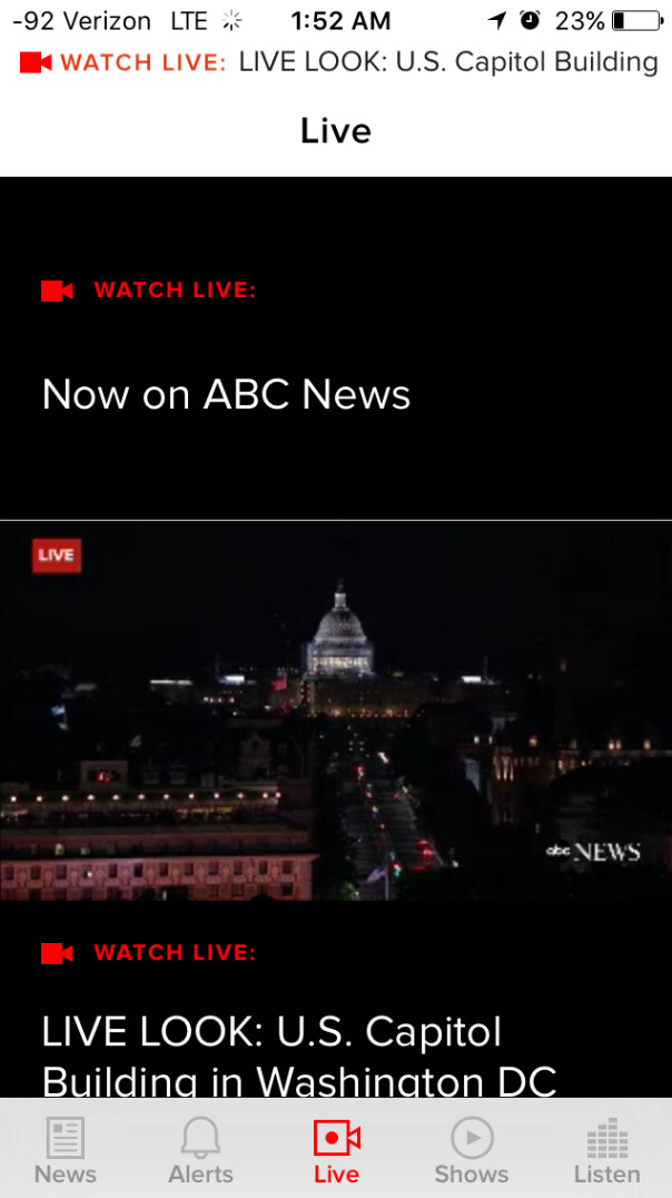 ABC News updates its app to add multiple live feeds - ABC News app is updated; new features include multiple live feeds