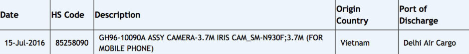 Listing on Zauba confirms the use of an iris scanner on the Samsung Galaxy Note 7 - Zauba listing confirms an iris scanner is on board the Samsung Galaxy Note 7?