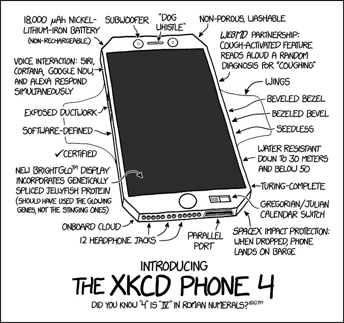 xkcd Phone 4 goes official: 18,000 mAh Li-Iron battery and SpaceX impact protection on board