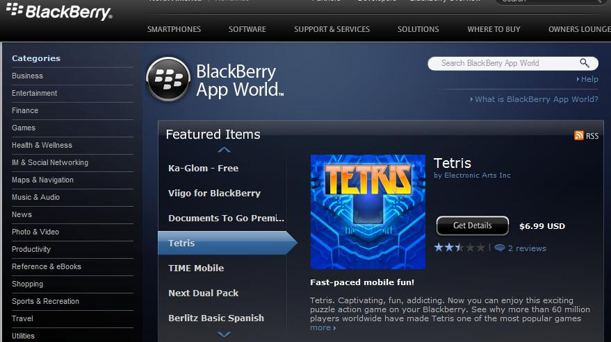 The universe for BlackBerry App World expands to desktop browsing