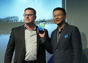 ZTE USA CEO Lixin Cheng (right) - ZTE's ZMax Pro dares to break the $100 smartphone barrier: hands-on from the launch event