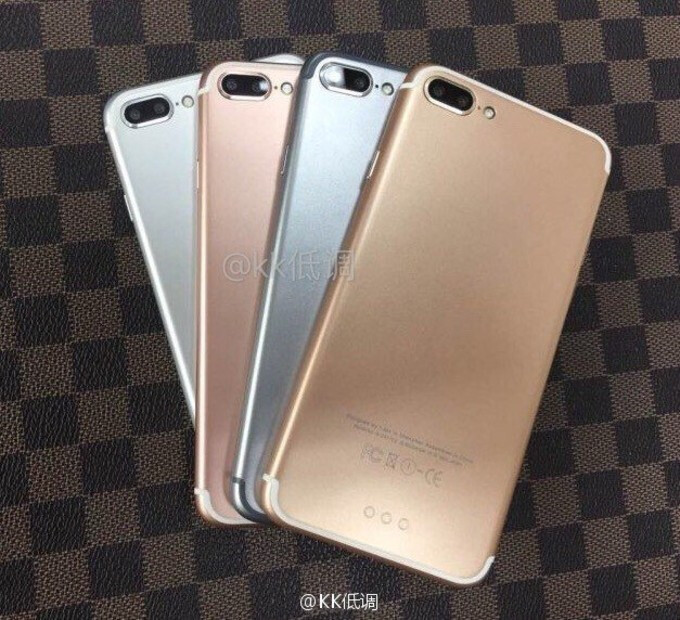 Alleged iPhone 7 Plus photo shows all 4 finishes, looks a bit fishy