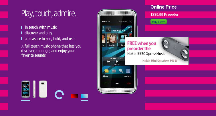 The Nokia 5530 XPM can be preordered for $289.99 - Nokia USA makes the 5530 XPM available for preorder