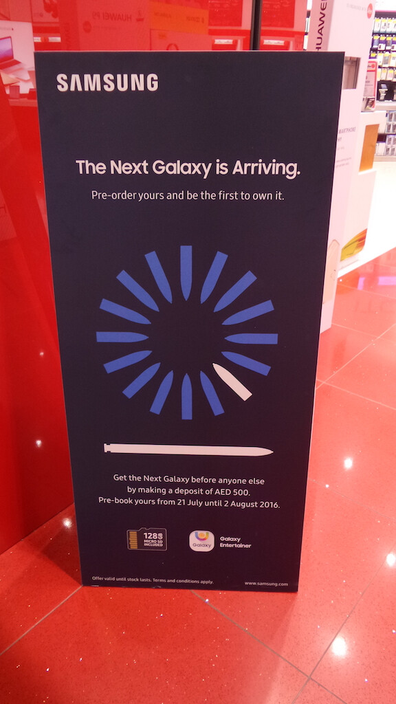 Samsung Galaxy Note 7 pre-orders to open at T-Mobile next week, already live in Dubai?