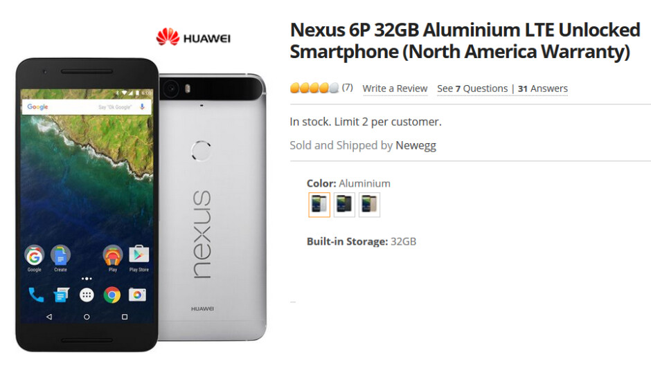 Get the 32GB unlocked Nexus 6P with a case, selfie stick and a $25 gift card for $399 - $399 buys you 32GB Nexus 6P with case, selfie stick and $25 gift card until 3am ET Monday