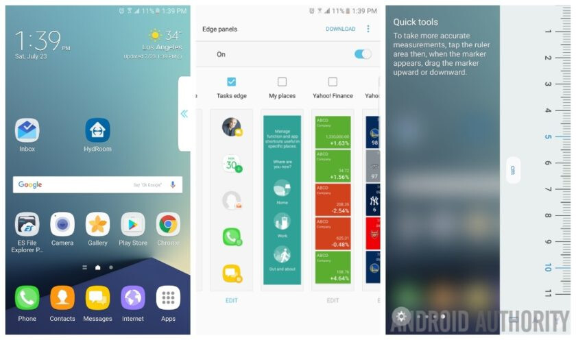 Some edge features of the Note 7 - Galaxy Note 7 iris scanner limitations disclaimer, Grace UX shown off in leaked screenshots