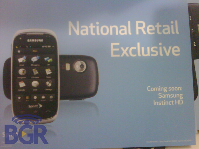 Best Buy web site shows off Samsung Instinct HD