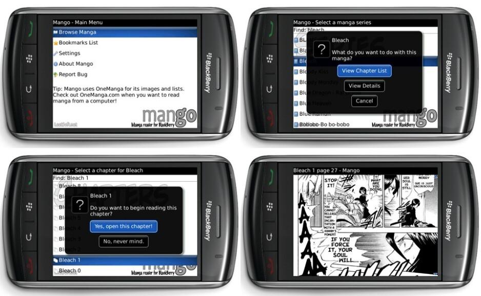 Mango - Several interesting apps for BlackBerry