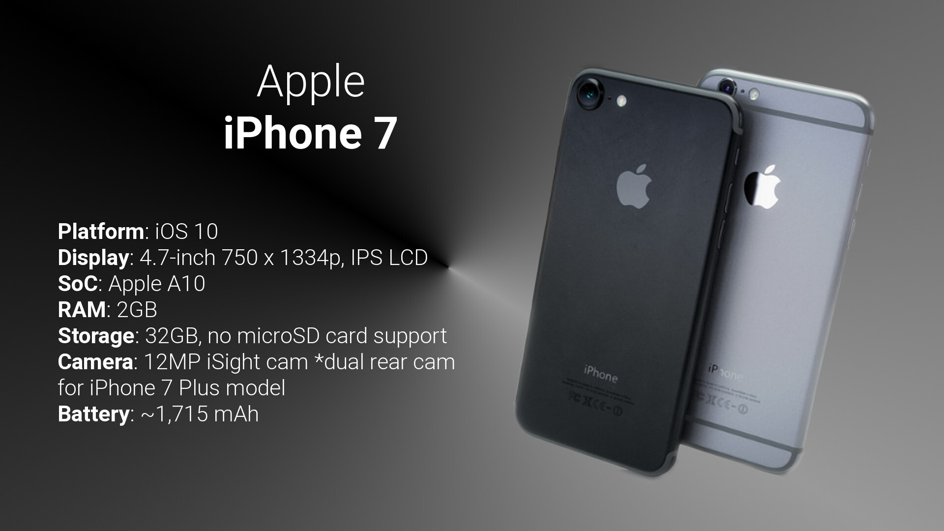APPLE IPHONE 7 SPECIFICATION