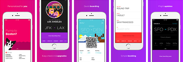 Virgin America's app looks modern and promising - Virgin America airlines app takes flight this summer, featuring booking and Spotify playlists