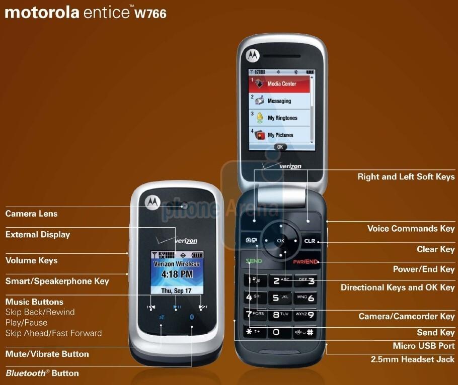 Motorola Entice W766 making it's way to Verizon stores