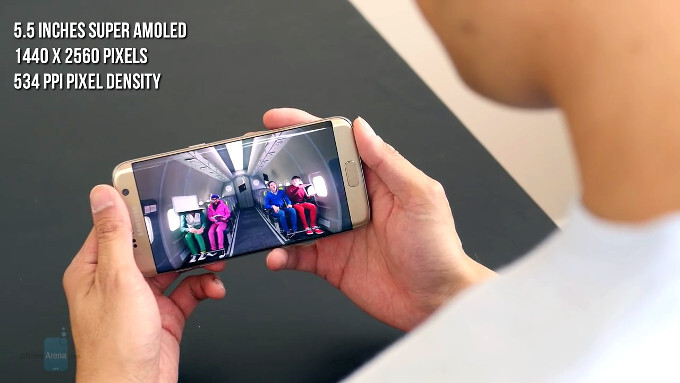 The video footage top and bottom may get a little distorted on a curved flexible display - Do Samsung's curved 'edge' displays bother you when watching video?