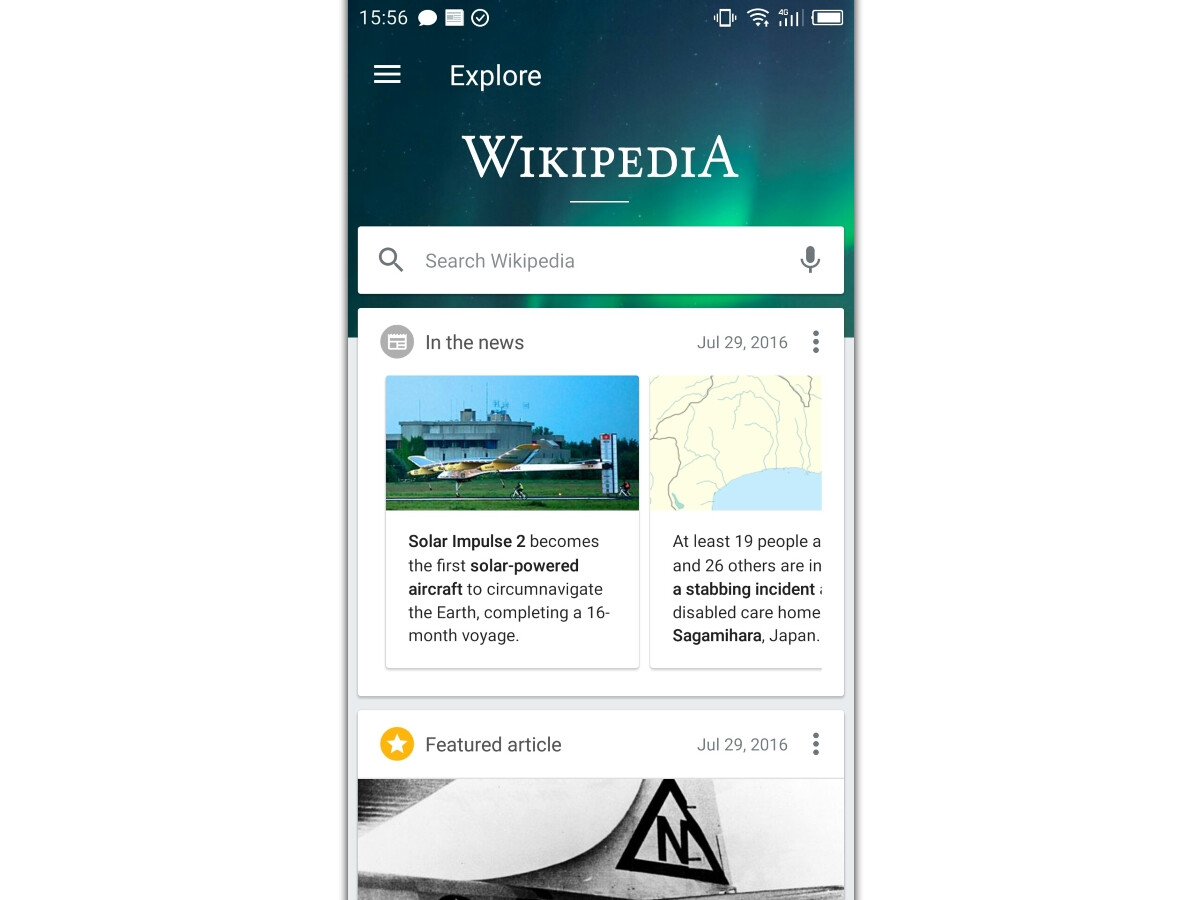 Wikipedia app for Android now streamlined and updated with new design