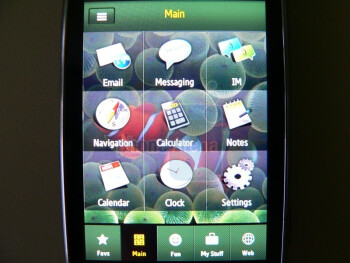 The Samsung Instinct HD's design and interface