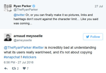Some Twitter subscribers are not impressed with the new stickers available to them