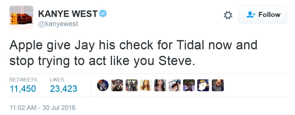 """Kanye West takes a shot at Apple CEO Tim Cook - Kanye West has message for Tim Cook: """"stop trying to act like you Steve"""""""