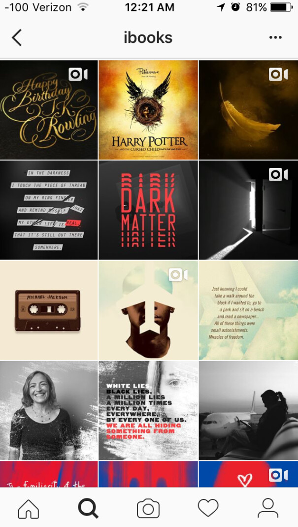 Apple opens an official iBooks Instagram account - Apple opens Instagram account for iBooks just as new Harry Potter book launches