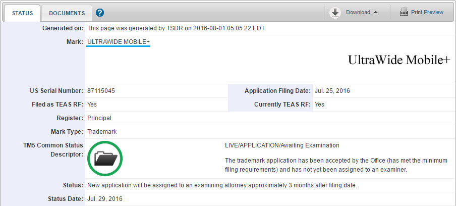 """LG applied for the UltraWide Mobile+ trademark - LG applies for """"UltraWide Mobile+"""" trademark, 21:9 smartphone screen in-bound?"""