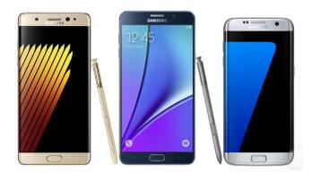 Samsung Galaxy Note 7 Vs Galaxy Note 5 Vs Galaxy S7 Edge