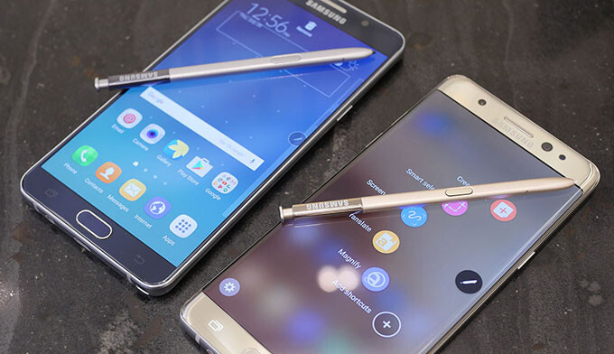 Galaxy Note 7 vs Galaxy Note 5: first look