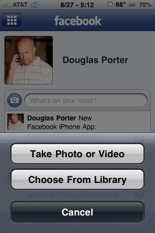 Facebook for the iPhone