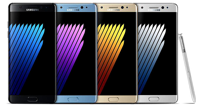 Poll: which color of the Galaxy Note 7 do you like best?