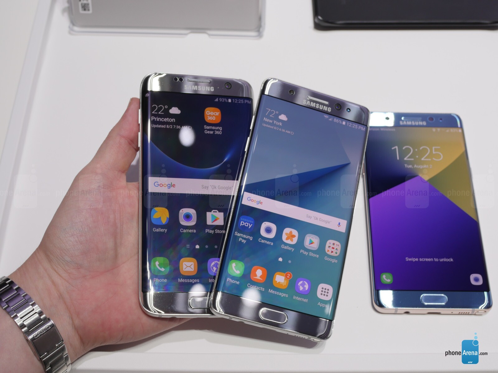 would like note 7 edge vs s7 edge the