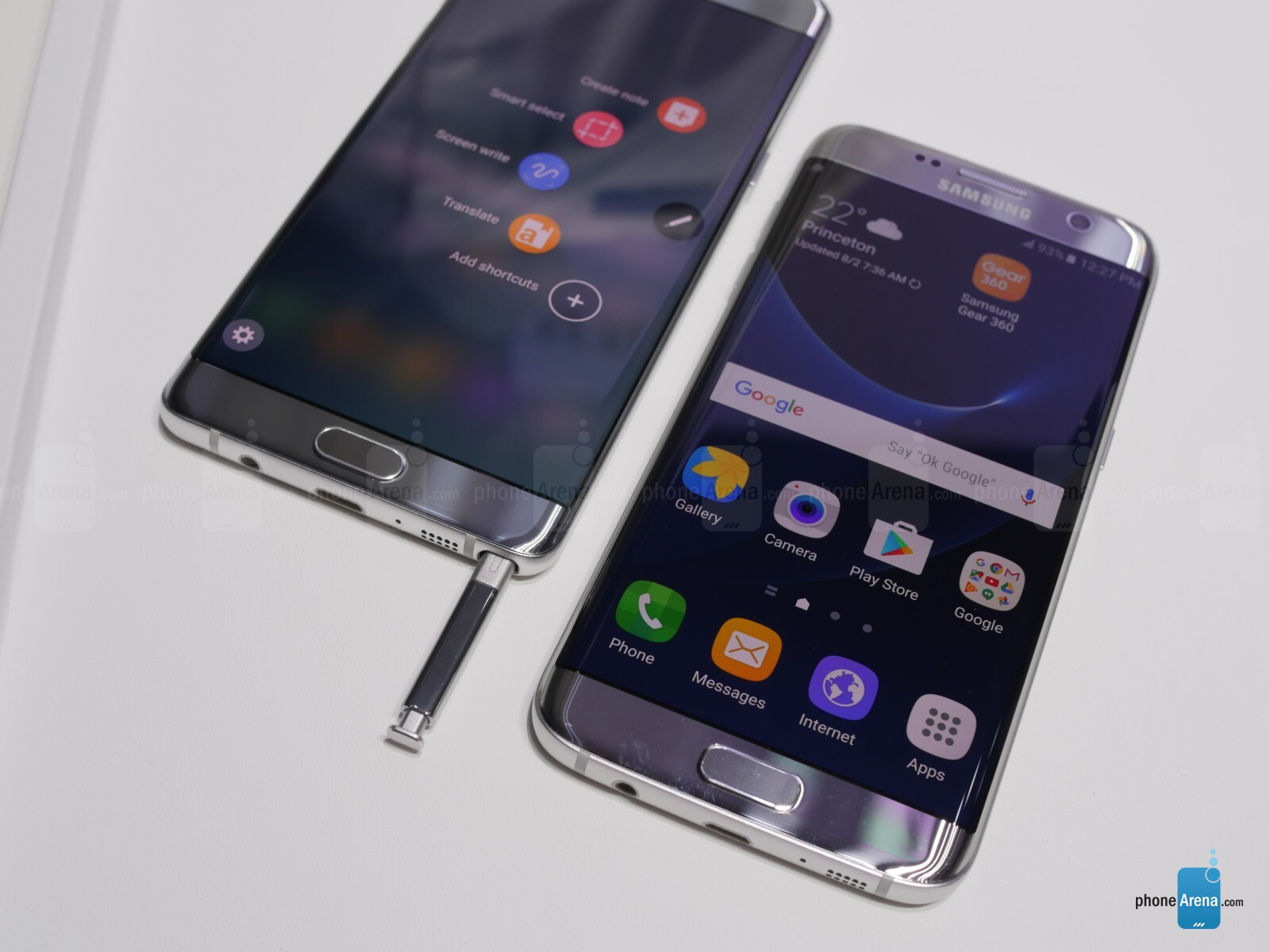 brilliant note 7 edge vs s7 edge have