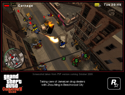Pictures of GTA Chinatown Wars for PSP - GTA: Chinatown Wars and Beaterator games coming to the iPhone