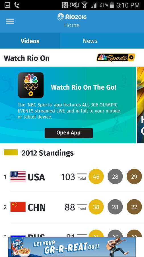 The app is already rich with content - The NBC Olympics app won't let you skip a beat from the soon-to-start Rio Olympics