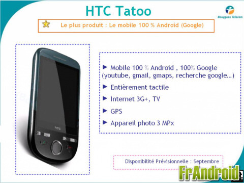 The HTC Click to roll out in France as the Tattoo