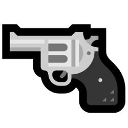 New emoji, depicting revolver - Emoji crossfire: Microsoft is also changing its gun emoji, but in a different way